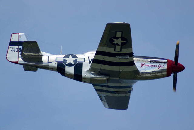 The 'Glamorous Gal' P-51D Flying Overhead
