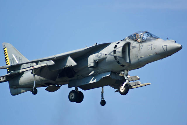 Marine AV-8B Hovers At Airshow
