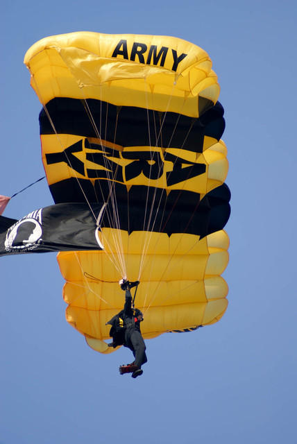 US Army Golden Knights Opening Jump