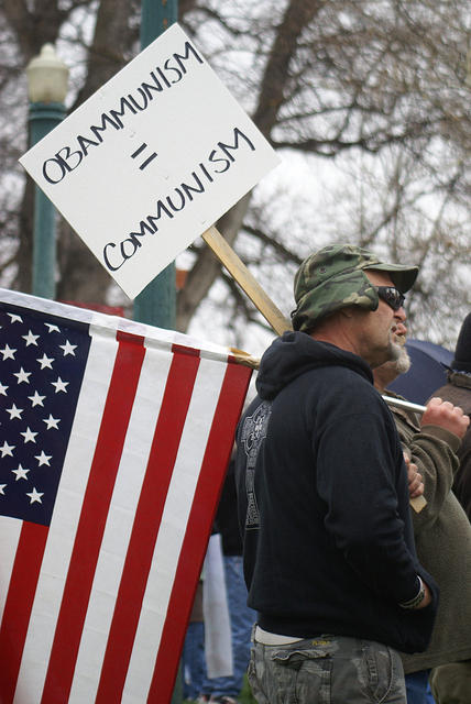 Boise Idaho Tea Party - Obammunism Equals Communism