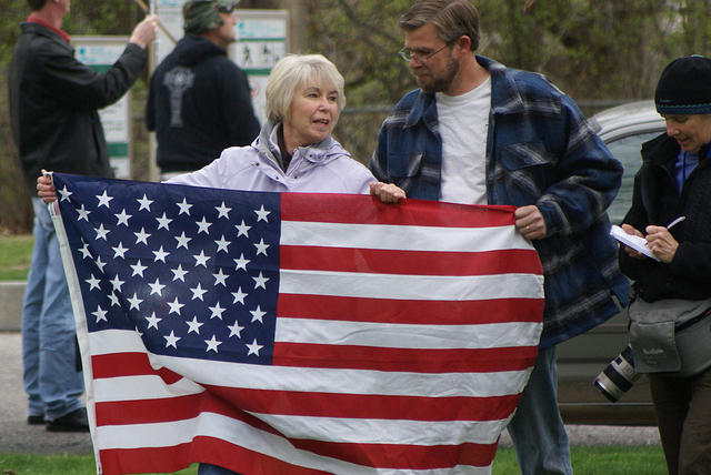 Boise Idaho Tea Party - Old Glory