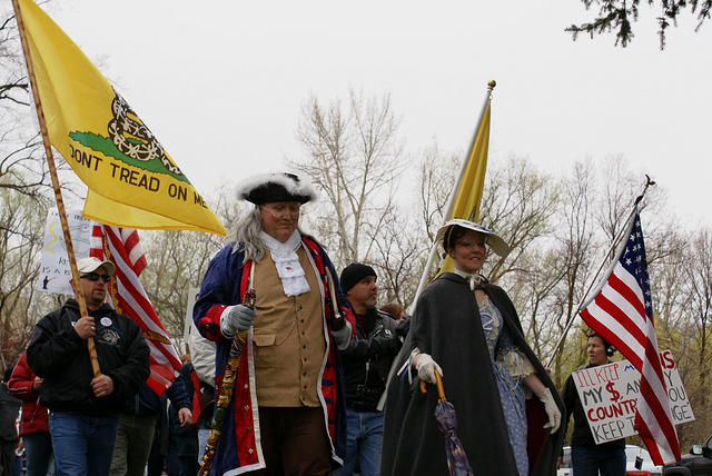 Boise Idaho Tea Party - Benjamin Franklin Leads