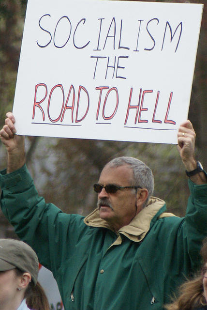 Boise Idaho Tea Party - Socialism the Road to Hell