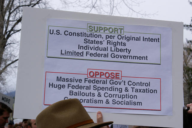 Boise Idaho Tea Party - Support and Oppose