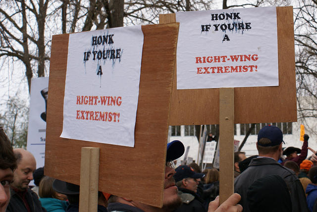 Boise Idaho Tea Party - Honk If Youre A Right Wing Extremist