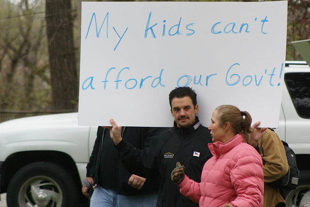 Boise Idaho Tea Party - Kids Can't Afford Our Gov't