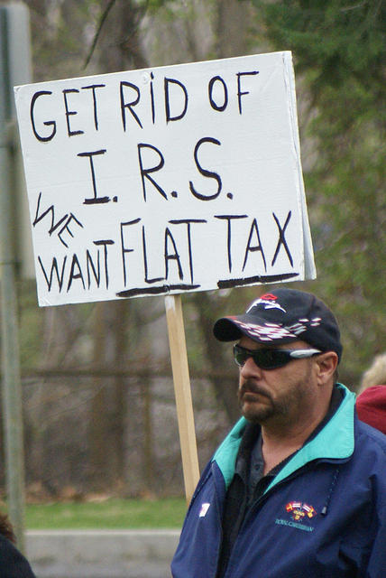 Boise Idaho Tea Party - We Want Flat Tax