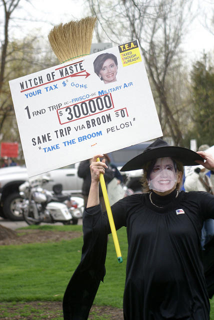 Boise Idaho Tea Party - Witch of Waste - Take the Broom Pelosi