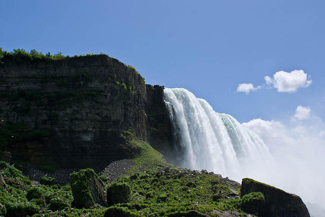 Horseshoe Falls At Niagara From the Bottom.