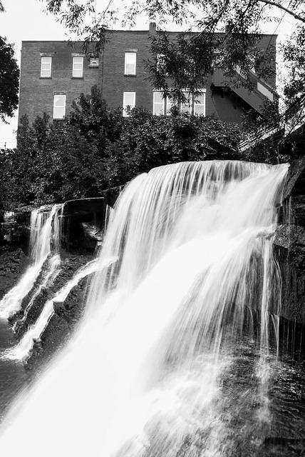 The Chagrin Falls in Ohio