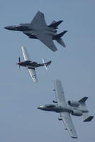 Cleveland Airshow Heritage Flight - F-15E, P-51 and an A-10