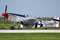 The 'Glamorous Gal' P-51 Mustang Taxi After Show