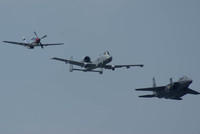 Hertiage Flight at the Cleveland AIrshow with a P-51, A-10 and a F-15E