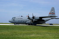 Mainsfield, Ohio Guard (179th Airlift Wing) C-130H Taxi With Cargo Door Open