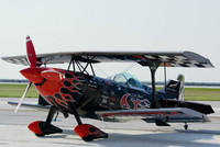 Skip Stewart's Black and Red Pitts Biplane