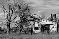 Rural Farm House in New Mexico - Black and White