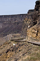 The Road Down to the Swan Falls Dam in Idaho