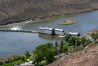 The Swan Falls Dam on the Snake River in Idaho
