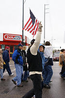 Boise Idaho Tea Party - American Flag Held High