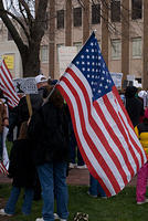 Boise Idaho Tea Party - American Flag Over The Shoulder
