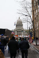 Boise Idaho Tea Party - Approaching the Capitol Building