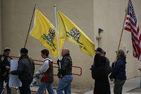 Boise Idaho Tea Party - Dont Tread on Me Flags
