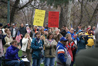Boise Idaho Tea Party - Gathering at Julia Davis Park
