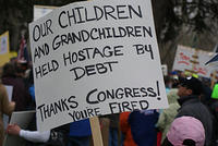 Boise Idaho Tea Party - Held Hostage By Debt