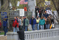 Boise Idaho Tea Party - March Down to Julia Davis Park