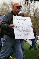 Boise Idaho Tea Party - Marching - Socialism