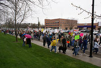 Boise Idaho Tea Party - The March Down the Street