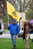 Boise Idaho Tea Party - Marching Into Julia Davis Park