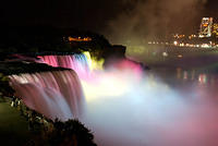 Niagara Falls - The American Falls at Night