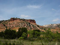 Rock Formation in Palo Duro Canyon, Texas