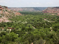 Looking Over a Valley in Palo Duro Canyon