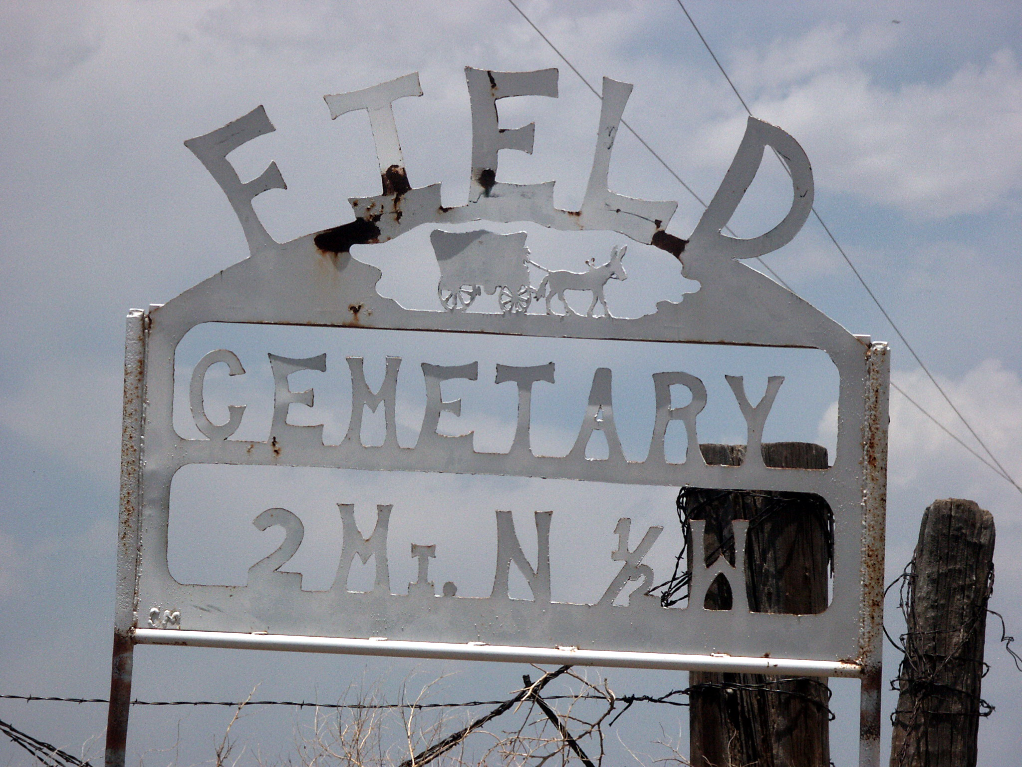 Sign at Field Cemetery