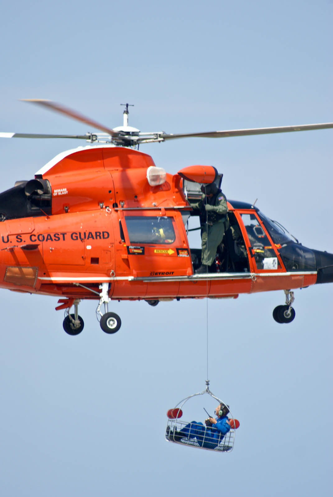 The H-65 Coast Guard Dolphin Rescue Basket